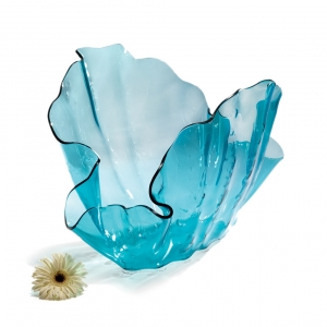 Annie Glass Ultramarine Clam Sculpture