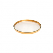 Annie Glass Mod Gold Round Plate