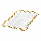 Annie Glass Ruffle Bread Basket