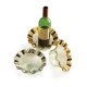 Annie Glass Ruffle Wine Coaster/Candle Holder
