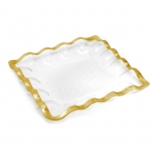 Annie Glass Ruffle Square Server