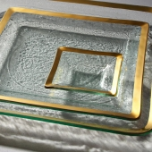 Annie Glass Roman Antique Small Square Dish