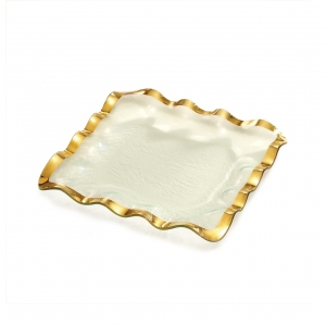 Annie Glass Ruffle Square Tray