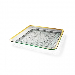 Annie Glass Roman Antique Large Square Tray