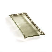 Annie Glass Ruffle Rectangular Tray