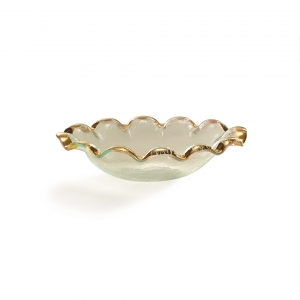 Annie Glass Ruffle Oval Serving Bowl