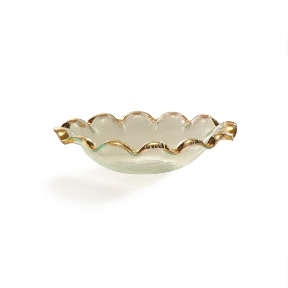 Ruffle Oval Serving Bowl
