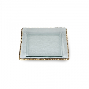Annie Glass Edgey Gold Square Platter