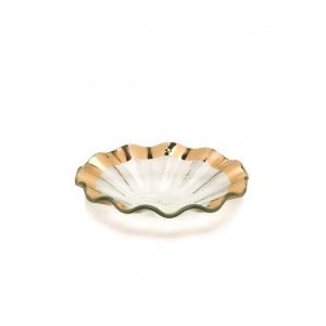 Annie Glass Ruffle Bowl
