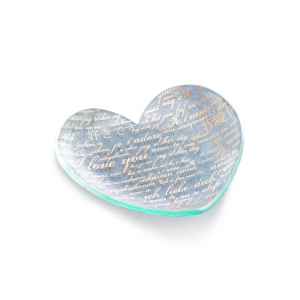 Annie Glass Sweet Nothings Heart Plate