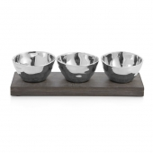 Michael Aram Ripple Effect Triple Bowl Set Silver