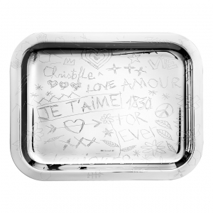 Christofle Graffiti Silver Plated Tray