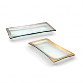 Annie Glass Roman Antique Olive Tray