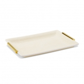 Aerin Shagreen Small Vanity Tray Cream