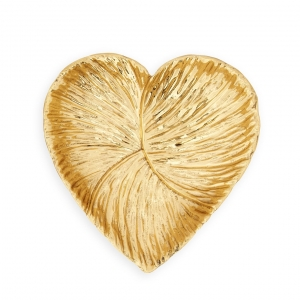 Aerin Large Floral Heart Dish Gold