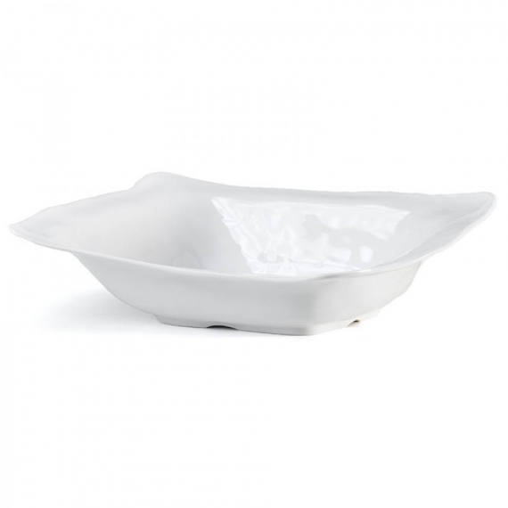 Ruffle Melamine Rectangle Shallow Serving Bowl Set of 4