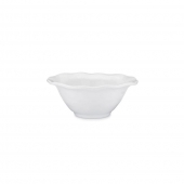 Q Squared Ruffle Melamine Round Cereal Bowl Set Of 8 White