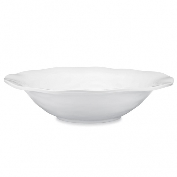 Ruffle Melamine Round Shallow Serving Bowl Set of 4