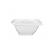 Q Squared Ruffle Melamine Square Cereal Bowl Set Of 8 White