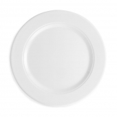 Q Squared Diamond Melamine Round Dinner Plate White