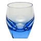 Moser Crystal Bar Double Old Fashioned Glass 7.3 Oz Aquamarine
