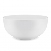 Q Squared Diamond Melamine Round Serving Bowl White