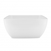 Q Squared Diamond Melamine Square Serving Bowl White