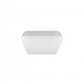 Q Squared Diamond Melamine Square Cereal Bowl Set Of 8 White