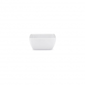 Q Squared Diamond Melamine Square Dip Bowl White