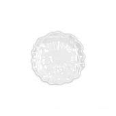 Q Squared Peony Melamine Canape Plate White