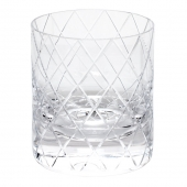 Moser Crystal Bonbon Double Old Fashioned Glass 12.3 Oz. Wedge Cuts Clear