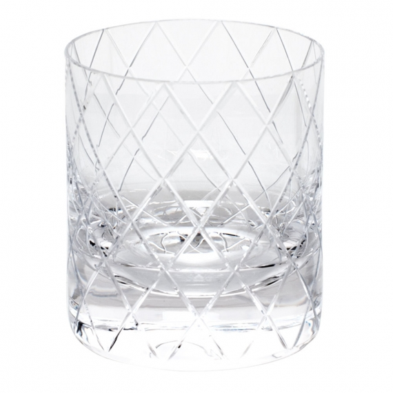 Bonbon Double Old Fashioned Glass 12.3 Oz. Wedge Cuts
