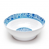 Q Squared Heritage Melamine Serving Bowl Blue