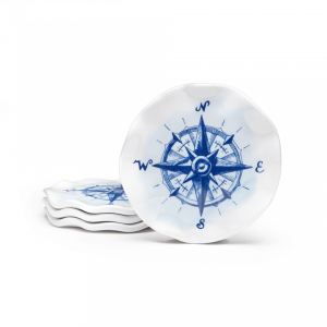 Portsmouth Melamine Compass Coasters (Set of 4)