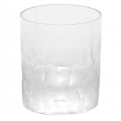 Moser Crystal Pebbles Double Old Fashioned Glass 12.5 Oz. Clear