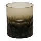 Moser Crystal Pebbles Double Old Fashioned Glass 12.5 Oz. Smoke