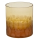 Moser Crystal Pebbles Double Old Fashioned Glass 12.5 Oz. Topaz