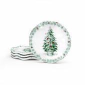 Q Squared Yuletide Melamine Coasters (Set Of 4) Green