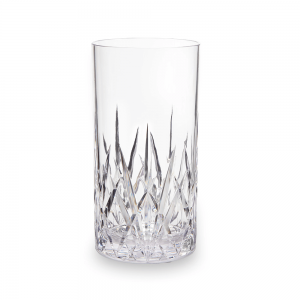 Q Squared Aurora Crystal Tritan Acrylic Highball Glass Tumbler Clear