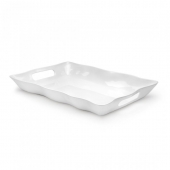 Q Squared Ruffle Melamine Rectangle Tray Set Of 4
