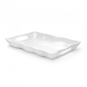 Q Squared Ruffle Melamine Rectangle Tray