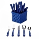 Q Squared Provence 20pc Flatware Set With Caddy