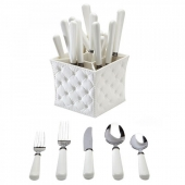 Provence 20pc Flatware Set with Caddy