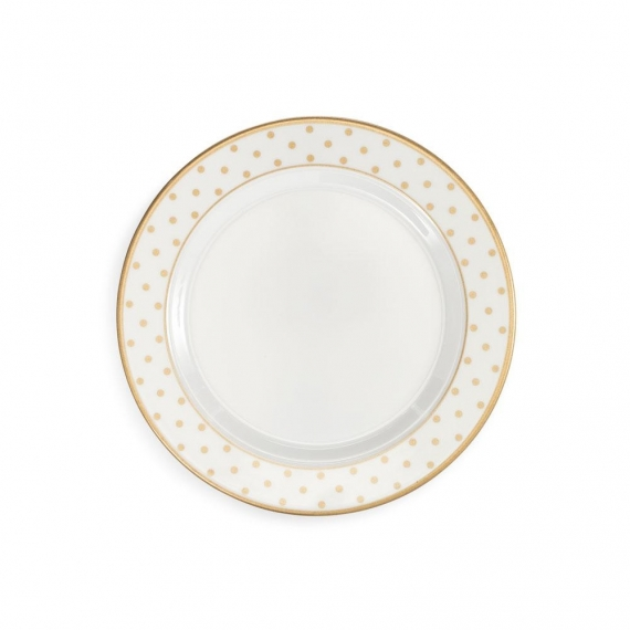 Moonbeam Dots Melamine Salad Plate