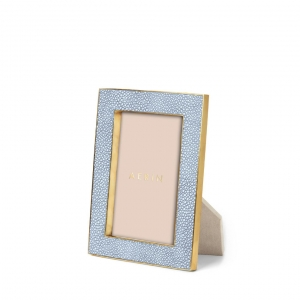 Aerin Classic Shagreen Small Frame Blue