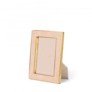 Aerin Classic Shagreen Blush Photo Frame Small