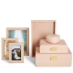 Aerin Classic Shagreen Blush Photo Frame Set