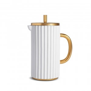 L'Objet Ionic French Press White