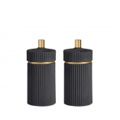 L'Objet Ionic Black Salt and Pepper Mills