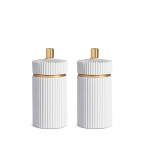 Ionic White Salt + Pepper Mills